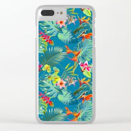 Flower Fest Clear iPhone Case
