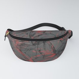 Whirlwind of petals gray Fanny Pack