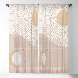 Yin Yang Blush - Sun & Moon Sheer Curtain
