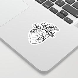 Elastic Heart Sticker