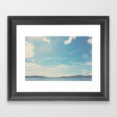 adventure awaits ... Framed Art Print
