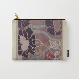 Verneuil - Japanese paper and fabric designs (1913) - 65: Peonies Carry-All Pouch