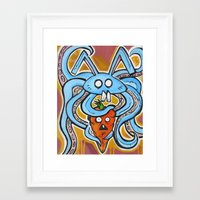 vegetarian Framed Art Prints featuring Eat Vegetarian by Ivan Collich