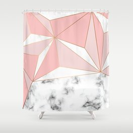 Marble & Geometry 042 Shower Curtain