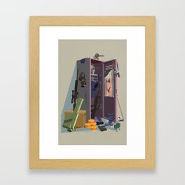 Sneaky Locker Framed Art Print
