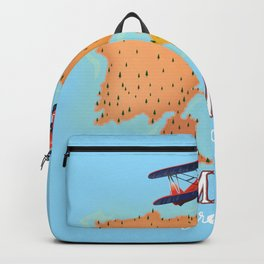 Lemmos Greek travel poster Backpack