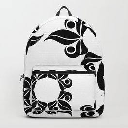 Decorative Black and White Pattern Backpack
