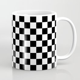 Checker Black and White Coffee Mug