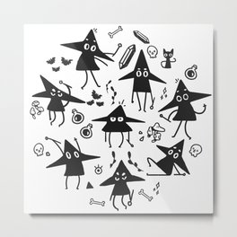Magical Little Witches Metal Print