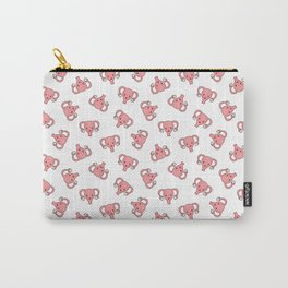 Crazy Ditsy Happy Uterus in White Carry-All Pouch