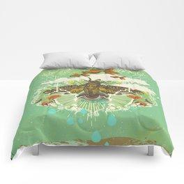 EVENING PSYCHEDELIA Comforters