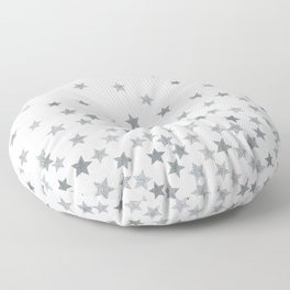 STARS SILVER Floor Pillow