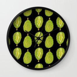 strange fruits (durian) Wall Clock