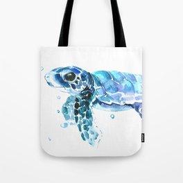 Sea Turtle Tortoiseblue turtle cartoon children art Tote Bag