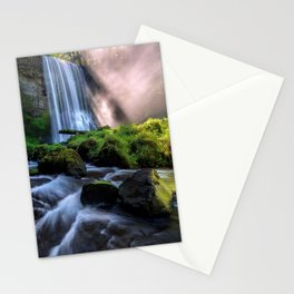 Photo USA Upper Oneonta Falls Oregon Rock Nature Waterfalls Moss stone Crag Cliff Stones Stationery Cards