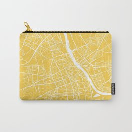 Warsaw map yellow Carry-All Pouch