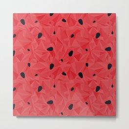 Watermelon juicy pattern Metal Print