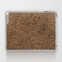 Little wild cheetah spots animal print neutral home trend rust copper black  Laptop & iPad Skin