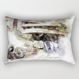 Falingwater Watercolor Rectangular Pillow