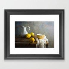 Three lemons Framed Art Print
