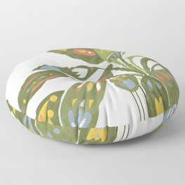 Scandinavian Plant Floor Pillow