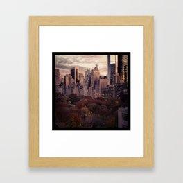 evening in the park Framed Art Print