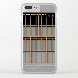 Bronze Bars Clear iPhone Case