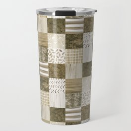 Brown Patchwork Travel Mug