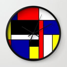 Mondrian #70 Wall Clock