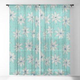 sema mint blue Sheer Curtain