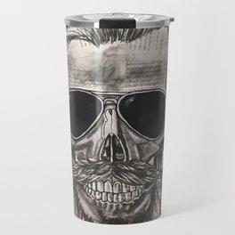 hipster skull Travel Mug