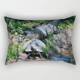 Turtle Says Follow Me Rectangular Pillow