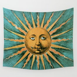 Vintage Sun Print Wall Tapestry