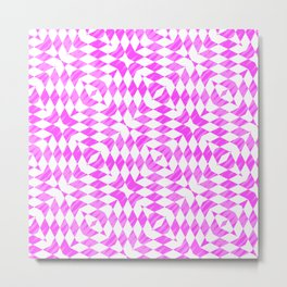 Pink And WHite abstract pattern Metal Print