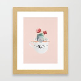 Cactus pool Framed Art Print