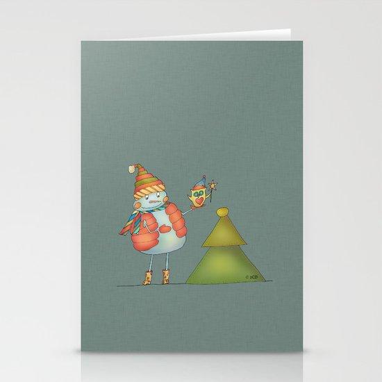 Friends keep warm - greyish Stationery Cards