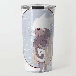 Moon child (blue) Travel Mug