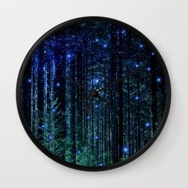 Magical Woodland Wall Clock
