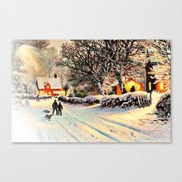 Village in Winter Canvas Print