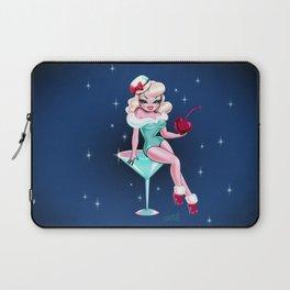 Cherry Holiday Martini Girl Laptop Sleeve