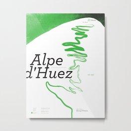 Famous Climbs: Alpe d'Huez 1, Modern Spring Metal Print