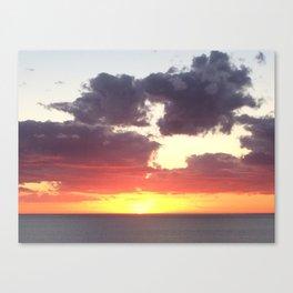 Glorious sunset in Adelaide, South Australia, Moana sandy beach Canvas Print