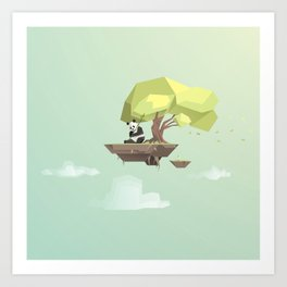 Low Poly Panda Bear Art Print
