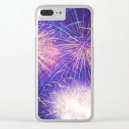 July Fourth Fireworks Clear iPhone Case