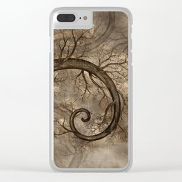 Golden Spiral Tree #2 Clear iPhone Case