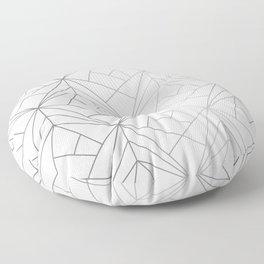 Geometric Silver Pattern Floor Pillow