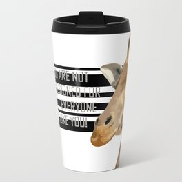 Giraffe pop art Travel Mug
