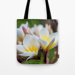 White Spring Flower Tote Bag