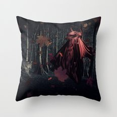 Little Miss Red Riding Hood Throw Pillow