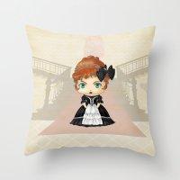 emily rickard Throw Pillows featuring Emily by artwaste